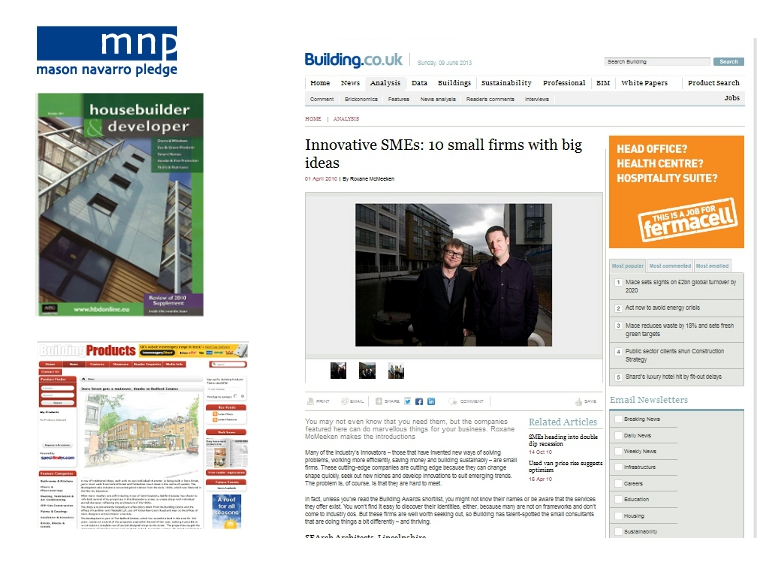 PR support for building industry press